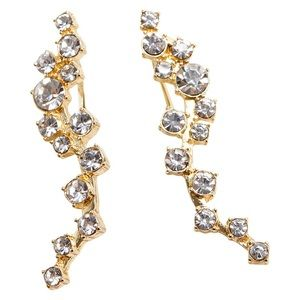 BaubleBar Farah Crystal Ear Crawlers